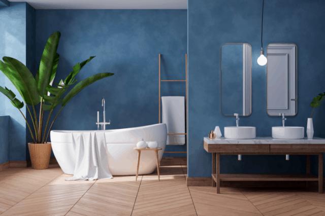 Fugenlose Oberflächenstruktur im Nassbereich des Badezimmers | Malerbetrieb Ingo Häusler Heilbronn